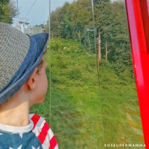 A bordo della cabinovia - Foto di Sossupermamma -